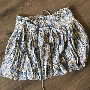 H&M Blue Floral Strings Skirt